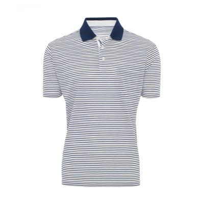 Baila - Baila Piquet Beyaz Enine Laci Çizgili T-Shirt