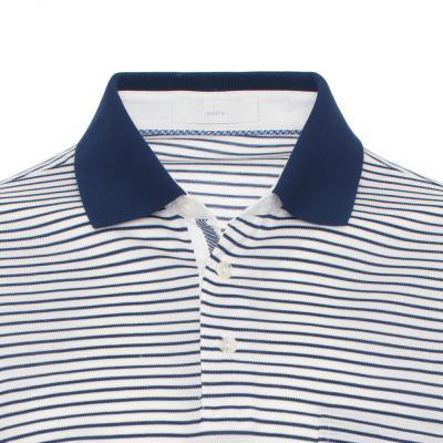 Baila - Baila Piquet Beyaz Enine Laci Çizgili T-Shirt (1)