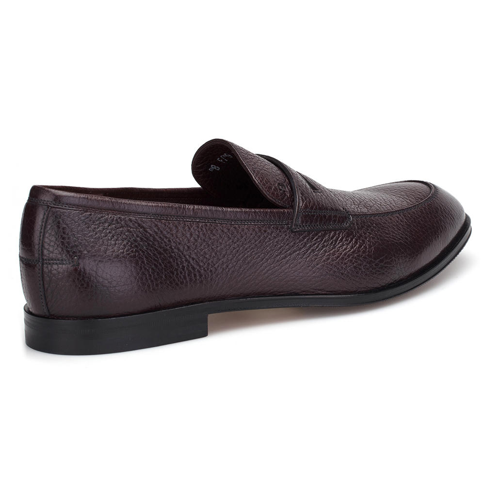 Bally Brown Deer Leather Loafer