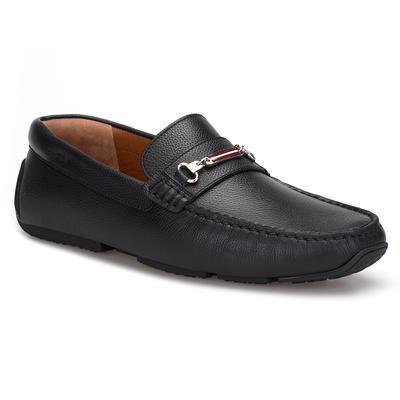 Bally - Bally Driver Shoe Siyah Dokulu Ayakkabı