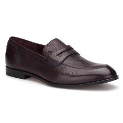 Bally - Bally Loafer Kahverengi Geyik Derisi Ayakkabı