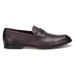 Bally - Bally Loafer Kahverengi Geyik Derisi Ayakkabı (1)