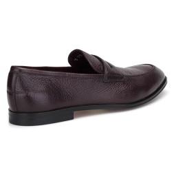 Bally Loafer Kahverengi Geyik Derisi Ayakkabı - Thumbnail