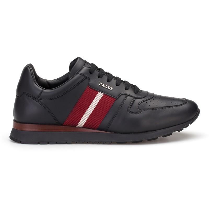Bally - Bally Siyah Deri Sneaker Ayakkabı (1)