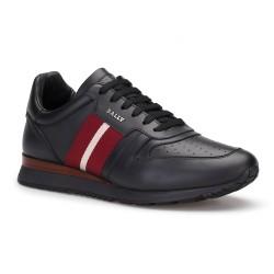 Bally - Bally Siyah Deri Sneaker Ayakkabı