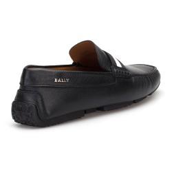 Bally Siyah Dokulu Deri Ayakkabı - Thumbnail