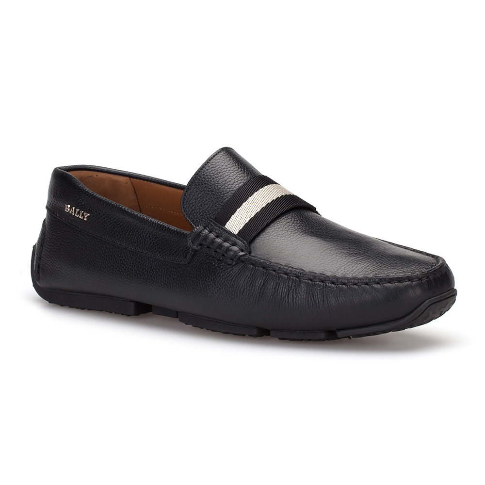 Bally - Bally Siyah Dokulu Deri Ayakkabı