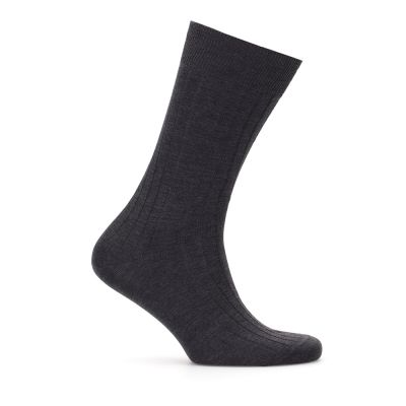 Bresciani Anthracite Striped Socks