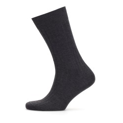Bresciani - Bresciani Anthracite Striped Socks   (1)