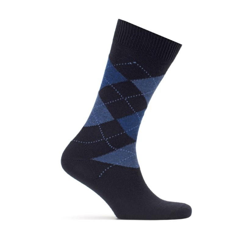 Bresciani - Bresciani Baklava Desenli Laci Mavi Çorap