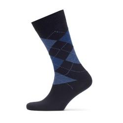 Bresciani - Bresciani Baklava Desenli Laci Mavi Yün Çorap (1)