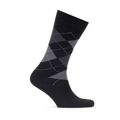 Bresciani Black Grey Socks