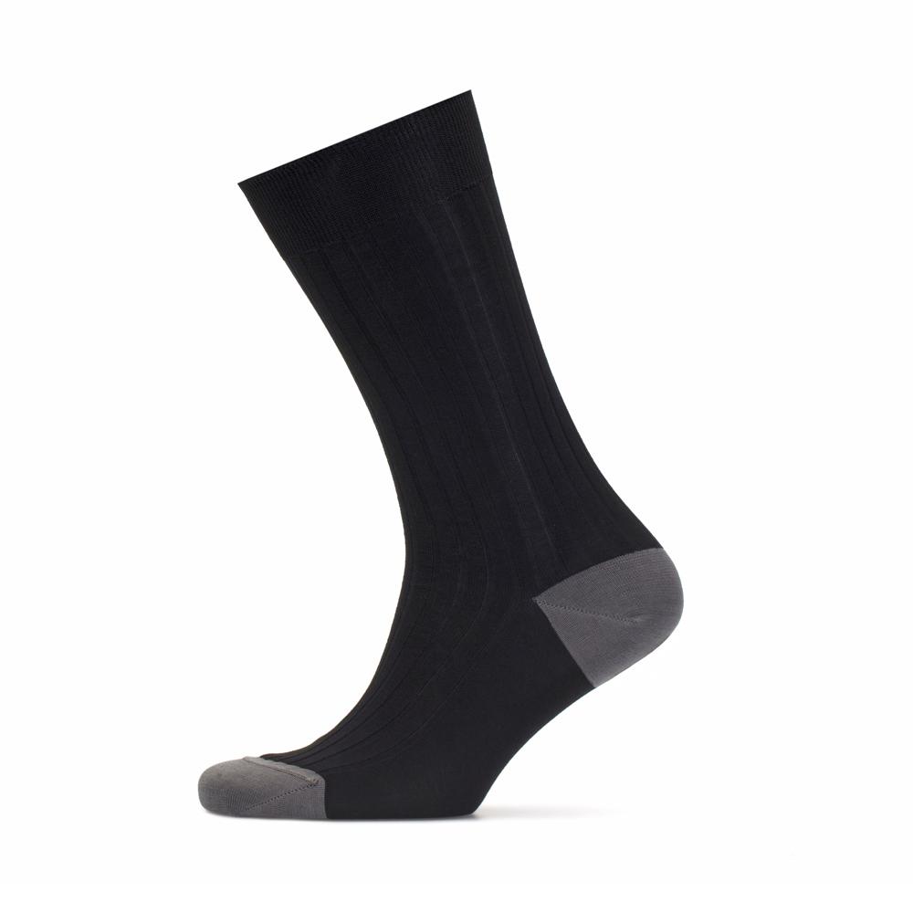 Bresciani Black Grey Socks