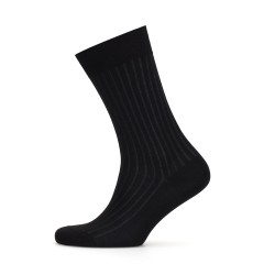 Bresciani - Bresciani Black Grey Striped Socks (1)