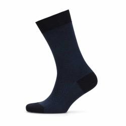 Bresciani - Bresciani Blue Herringbone Socks (1)