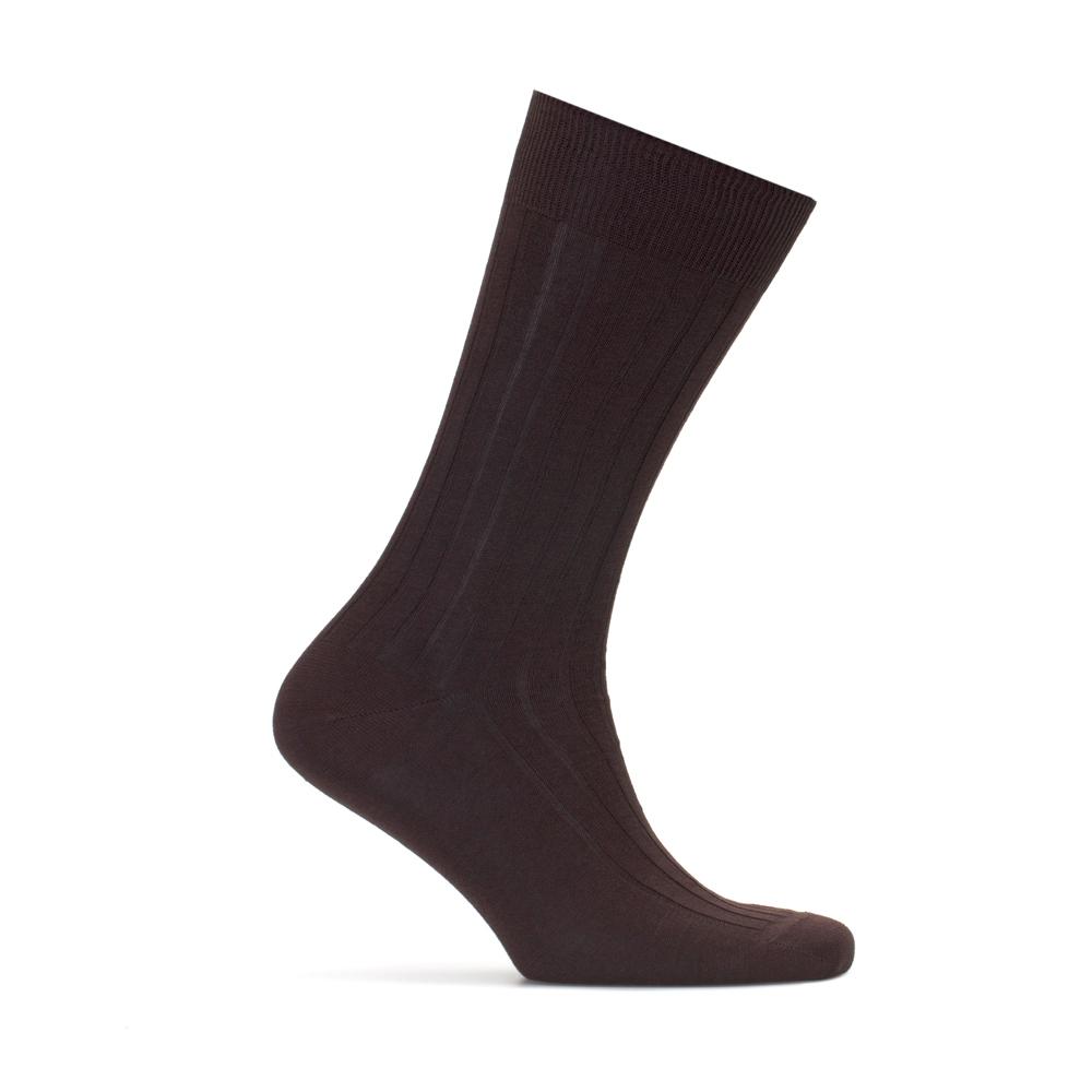 Bresciani Çizgili Kahve Çorap