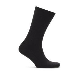 Bresciani Siyah Çizgili Yün Çorap - Thumbnail