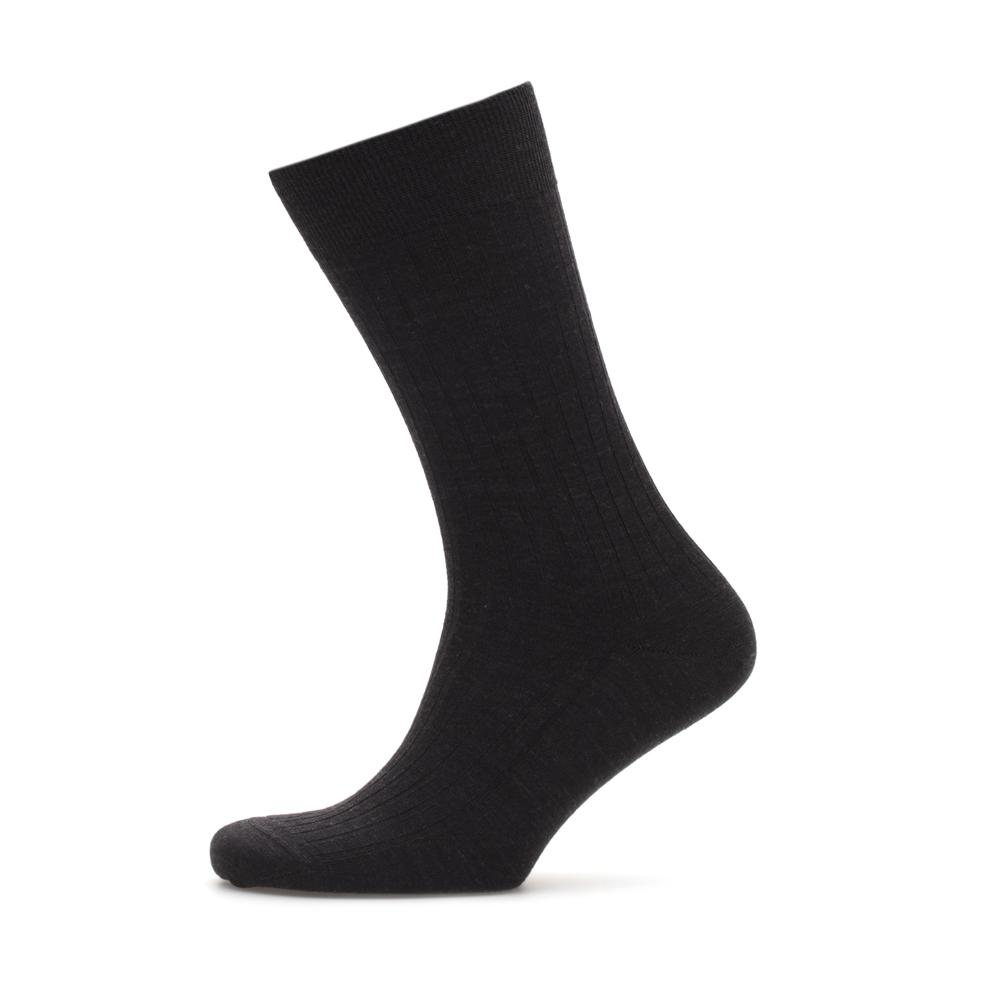 Bresciani Siyah Çizgili Yün Çorap