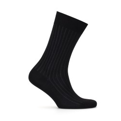 Bresciani Siyah Gri Çizgili Çorap - Thumbnail