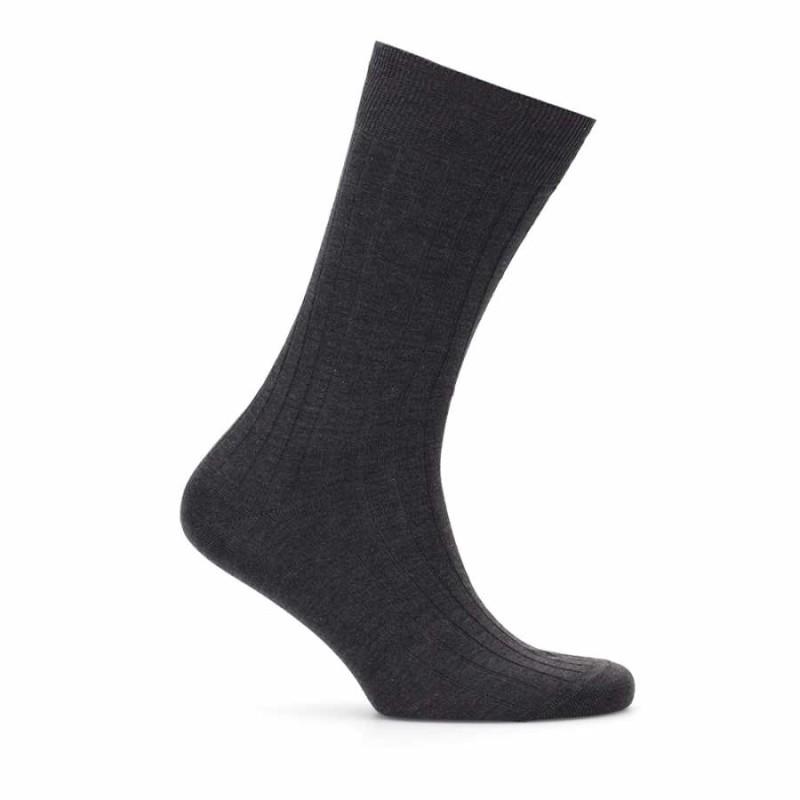 Bresciani - Bresciani Antrasit Çizgili Çorap