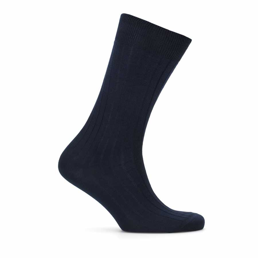 Bresciani Lacivert Çizgili Çorap
