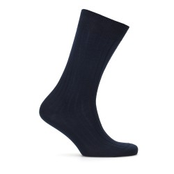 Bresciani - Bresciani Lacivert Çizgili Çorap
