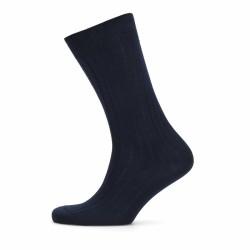 Bresciani Lacivert Çizgili Çorap - Thumbnail