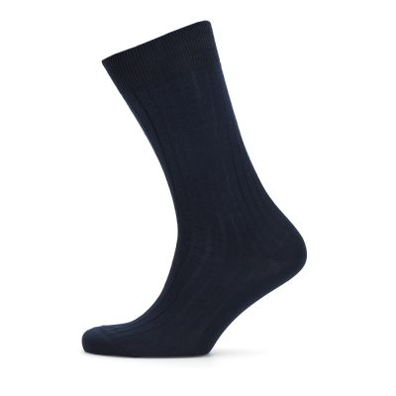 Bresciani - Bresciani Lacivert Çizgili Çorap (1)