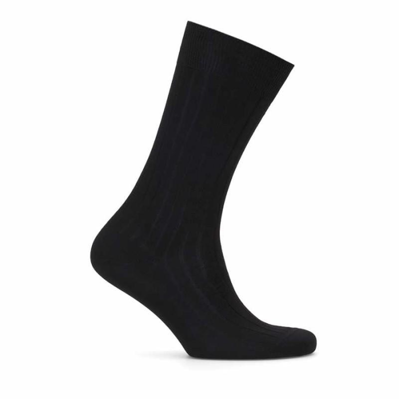 Bresciani - Bresciani Çizgili Siyah Çorap