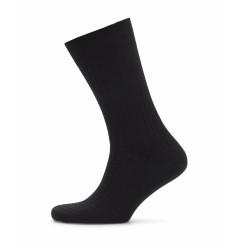 Bresciani - Bresciani Siyah Ince Çizgili Yün Çorap (1)