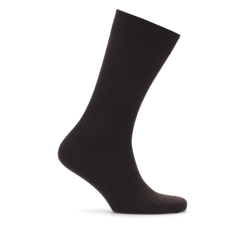 Bresciani Kahverengi Çizgili Yün Çorap