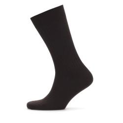 Bresciani - Bresciani Kahverengi Çizgili Yün Çorap (1)