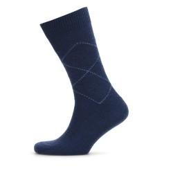 Bresciani - Bresciani Mavi Baklava Desenli Yün Çorap (1)