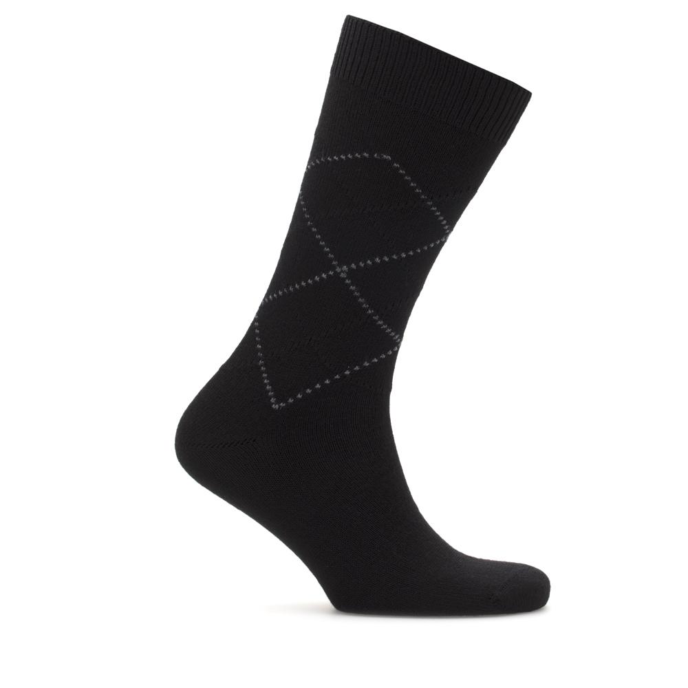 Bresciani Kahverengi Baklava Desenli Yün Çorap