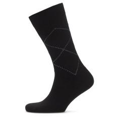 Bresciani Kahverengi Baklava Desenli Yün Çorap - Thumbnail