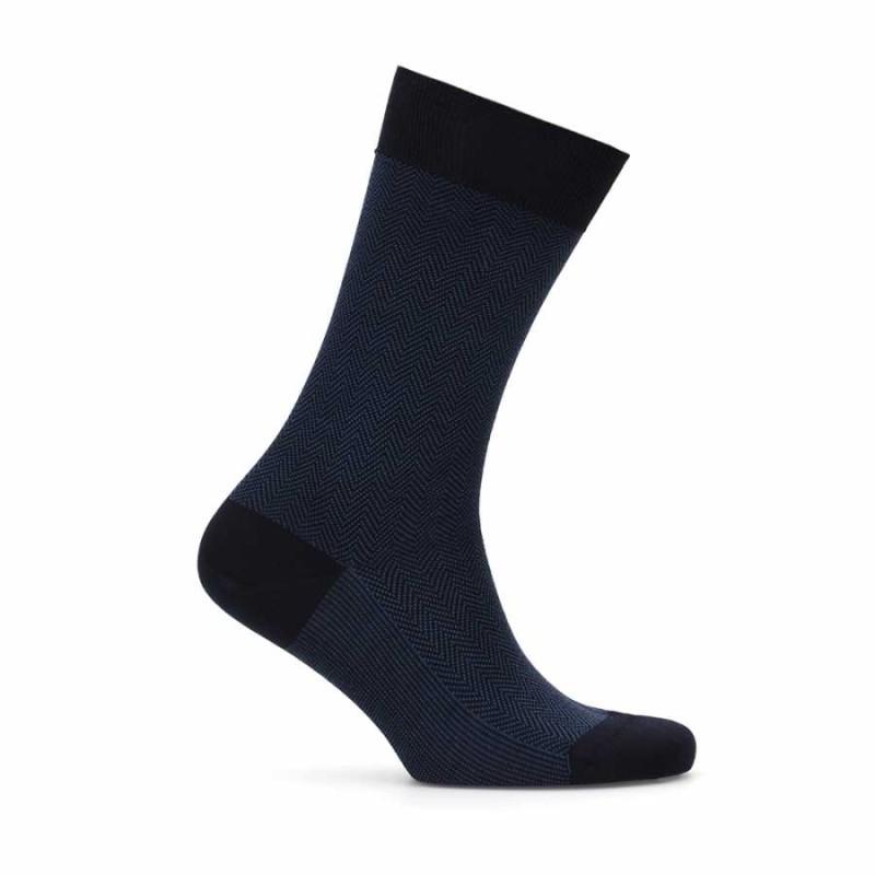 Lacivert Mavi Balıksırtı Çorap
