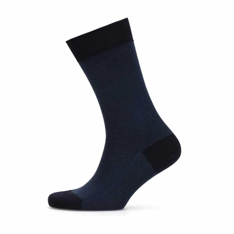 Bresciani - Lacivert Mavi Balıksırtı Çorap (1)