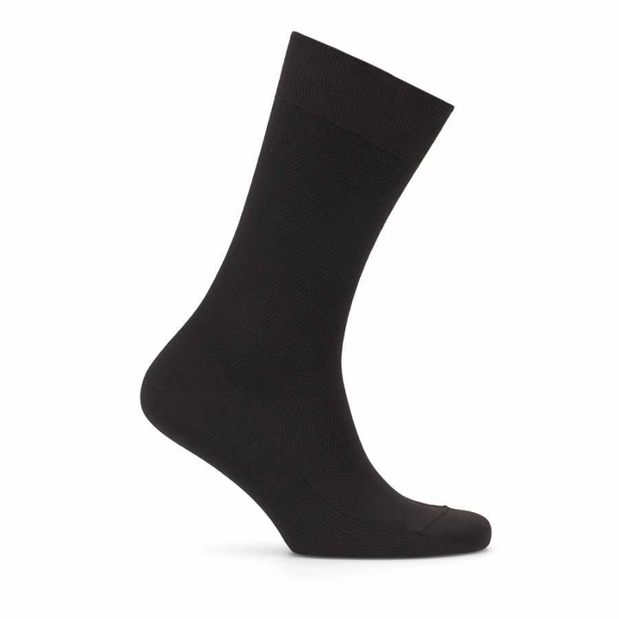 Bresciani Siyah Kahverengi Balıksırtı Çorap