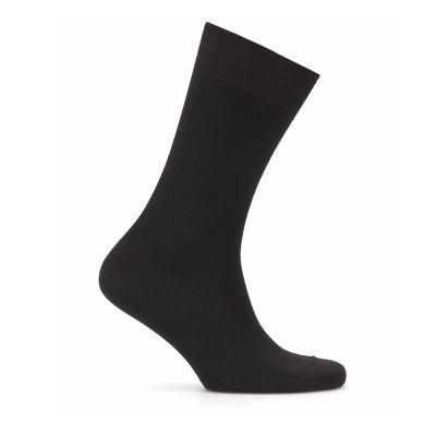 Bresciani - Bresciani Siyah Kahverengi Balıksırtı Çorap