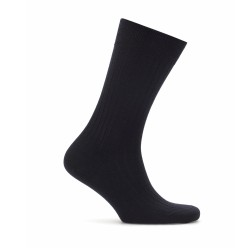 Bresciani Lacivert Çizgili Yün Çorap - Thumbnail