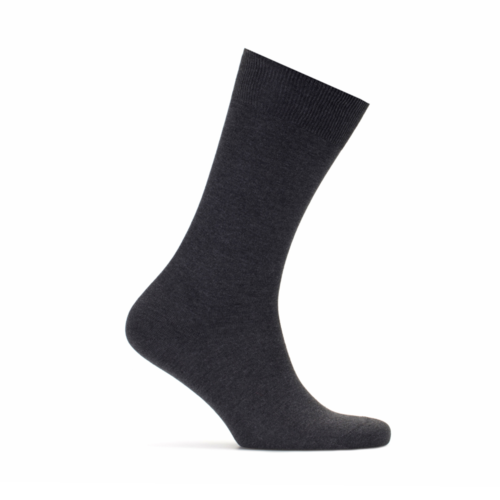 Bresciani Düz Gri Çorap