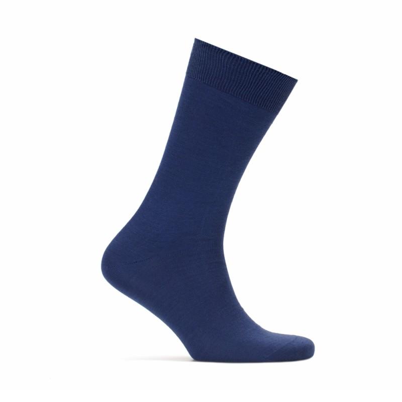 Bresciani - Bresciani Düz Havacı Mavi Çorap