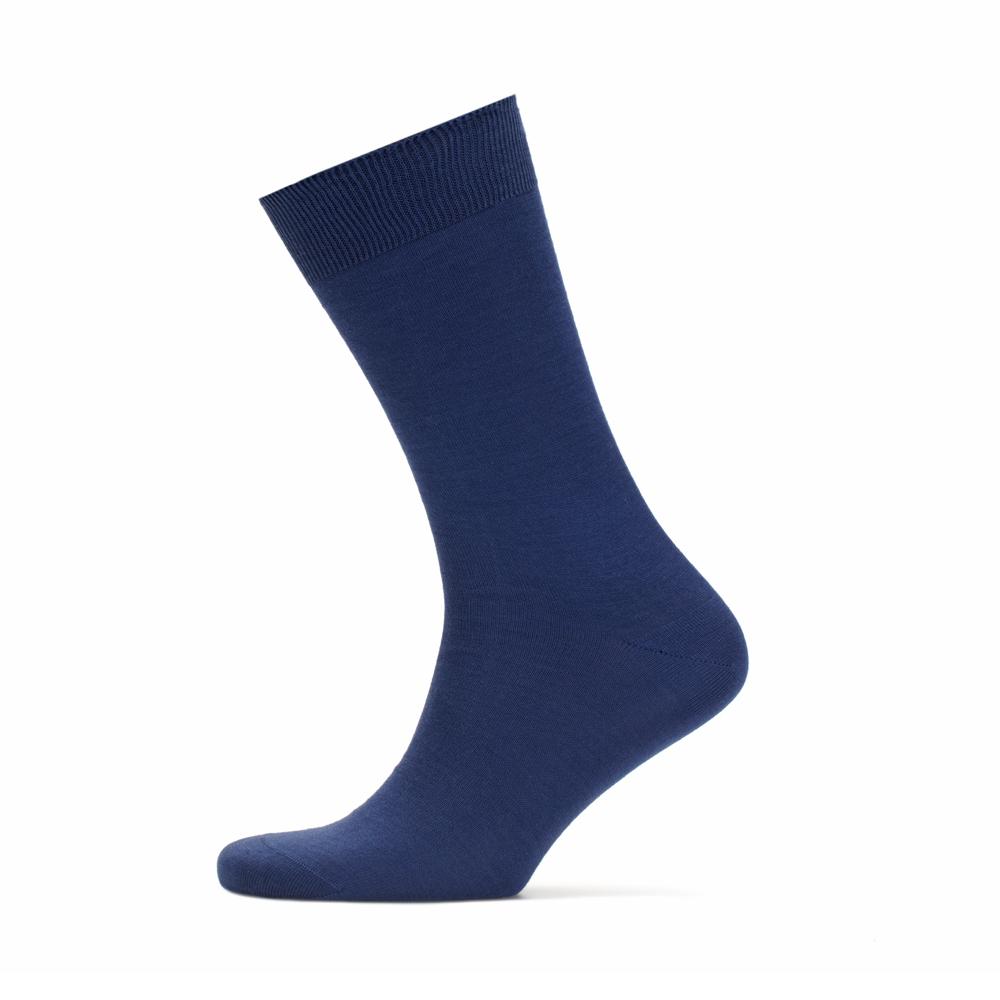 Bresciani Düz Havacı Mavi Çorap