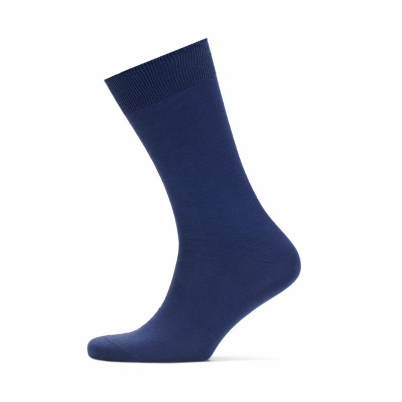 Bresciani - Bresciani Düz Havacı Mavi Çorap (1)