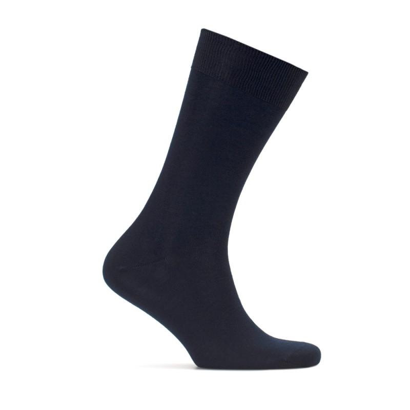 Bresciani - Bresciani Düz Lacivert Çorap