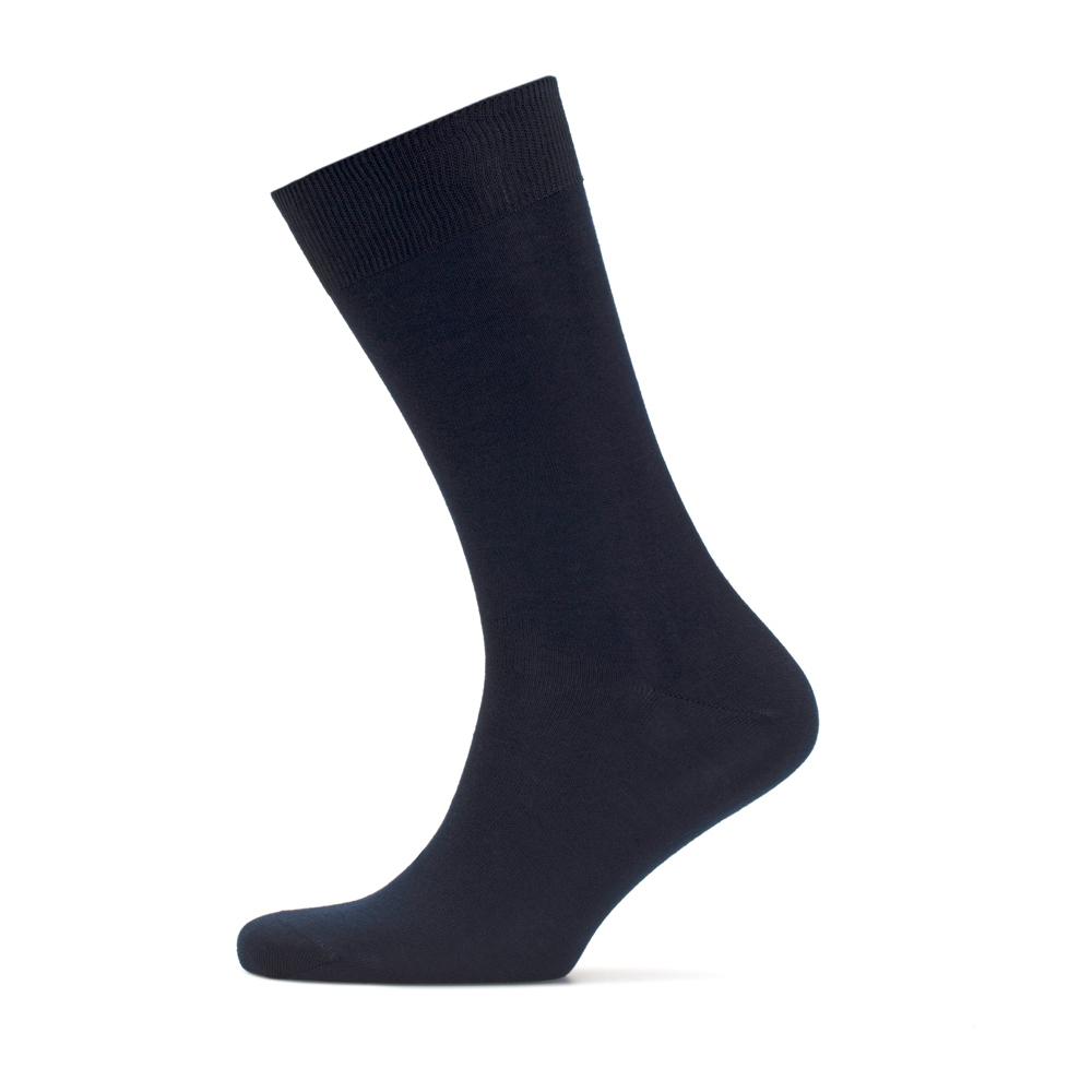 Bresciani Düz Lacivert Çorap