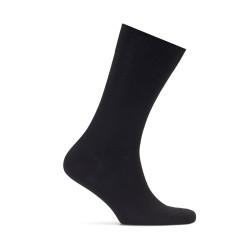 Bresciani Düz Siyah Çorap - Thumbnail