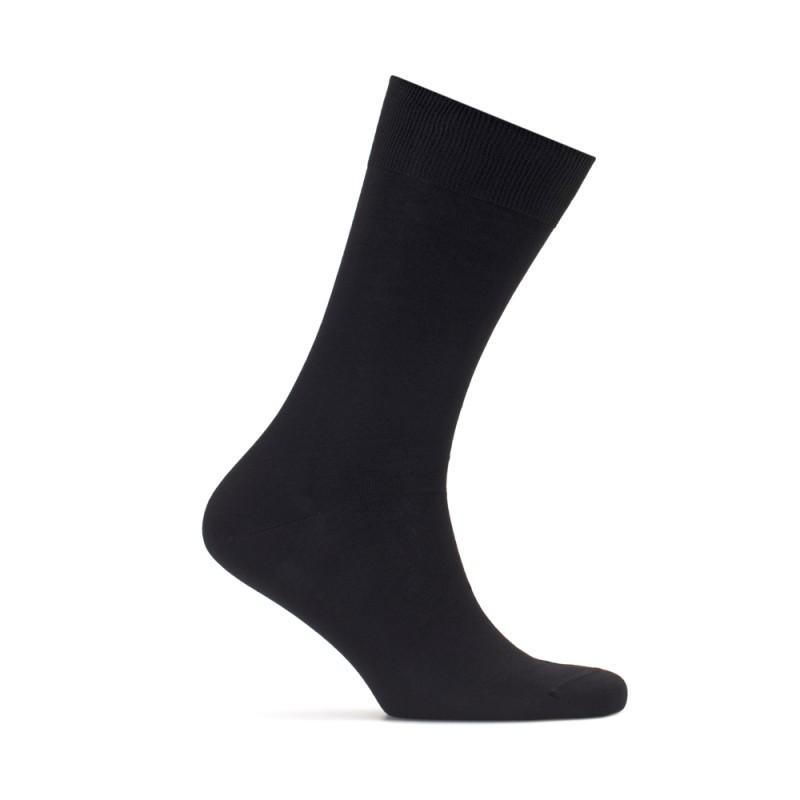Bresciani - Bresciani Düz Siyah Çorap