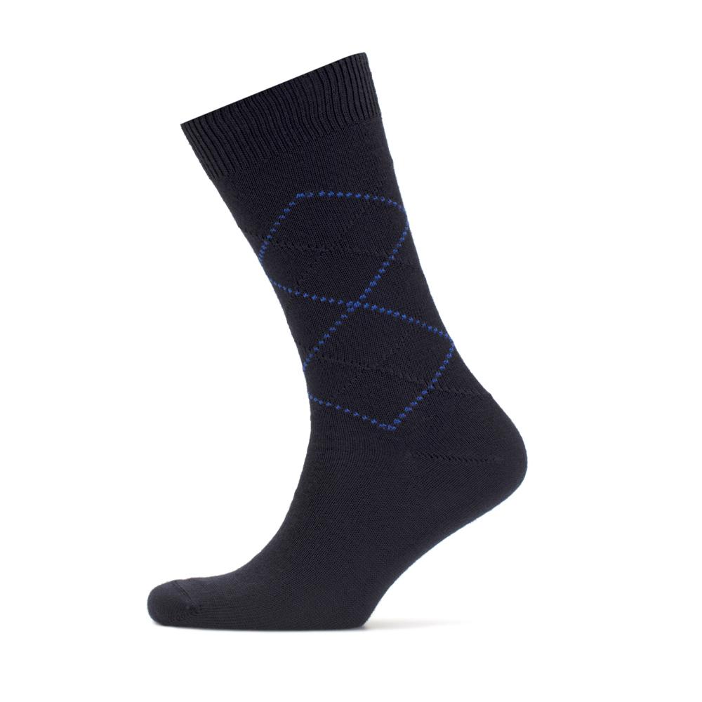 Bresciani Laci Mavi Baklava Yün Çorap