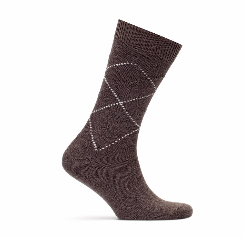 Bresciani Light Brown Ecru Socks